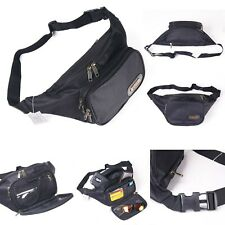 Fanny Pack Secure Travel Case Adjustable Belt Sport Pouch Waist Bag Black