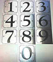 Self Adhesive Silver Door Numbers House Number 0-9 Available Sticker Sign