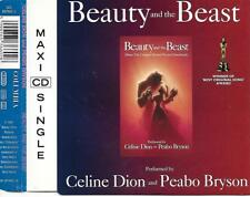 CELINE DION & PEABO BRYSON - Beauty and the beast CD SINGLE 2TR Europe 1991