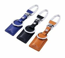 Anti Lost GPS Tracker Key Ring Leather and Polished Chrome Pet Child Bag Finder.