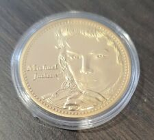 More details for michael jackson gold plated coin the king of pop 1958 2009