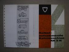 FAUN  Selbstaufnehmende Kehrmaschine AK 3 H  brochure / Prospekt  1968.