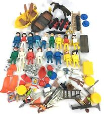 Vintage 1974 Playmobil Geobra Figures / Boats / weapons / Accessories #A39