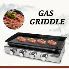 More details for gas bbq griddle lpg plancha hot plate barbecue grill enameled cast plate 84x34cm