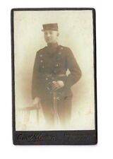 CDV Military Soldier Sword Scabbard Uniform Hat Emil Clausen antique photo