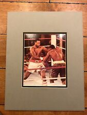 LARRY HOLMES THE CHAMP Signed BOXING MATTED CUSTOM PHOTO 14 x 18 COA