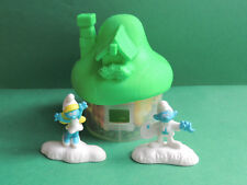 Schtroumpf Smurf Maison verte C figurine Happy meal McDonald's 2017 lost village