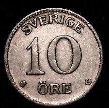 1937 SWEDEN SILVER 10 ORE FOREIGN COIN