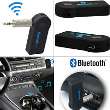 2x Wireless Bluetooth 3.5mm AUX Audio Music Home Car Receiver Adapter For iPhone