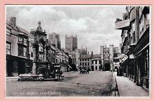 Vintage unposted postcard. The Market Place, Well, Somerset
