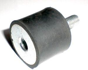 2 Stk 20 * 25 mm, M 6, Typ B Silentblock, Schwingmetall, Vibrationsdämpfer,