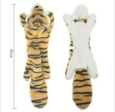 Puppy Squeaky Soft Toy Fluffy Animal Dog Play Tiger