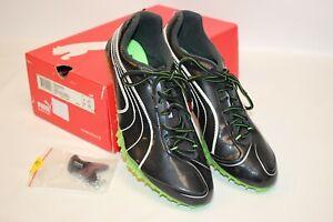 PUMA 184450 02 Men's Complete TFX Sprint 2 Track Shoes Blk/Jasmine/Green/Wht 10