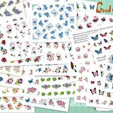 50pcs/Set Sheets Good for Nail Art Flower Wrap Water Transfer Slide Stickers