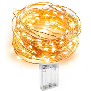 20/30/50 LED Battery Fairy String Christmas Lights Micro Rice Wire Copper Party