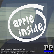 1 x Apple Inside-Window,Car,Van,Sticker,Sign,Vehicle,Macbook,Pro,Air,27,iphone