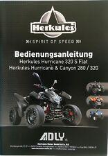 Adly Bedienungsanleitung ATV 280 und 320 ccm Canyon & Hurricane Deutsche Version
