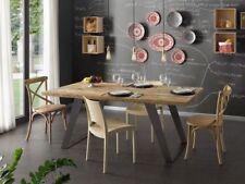 Tavolo WOOD design nature legno vintage industrial metallo massello di ONTANO