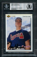 Tom Glavine #342 signed autograph auto 1992 Upper Deck Baseball Card BAS Slabbed