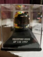 MINICHAMPS VALENTINO ROSSI AGV HELMET HELMET 1/8 WORLD CHAMPION GP 125 1997 RARE