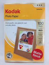 Kodak Photo Paper 4x6 Everyday Matte 145gsm 100 Pack MATTE FINISH Photography