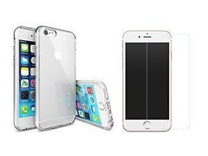 iPhone 7 - COMBO Coque Transparente + Verre Trempé pour iPhone 7