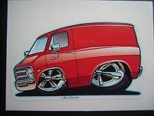 '71 - 77 Dodge Van  Sticker Red