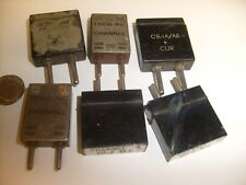 6 lot of Vintage large Crystals from Ham CB radio estate - / 01