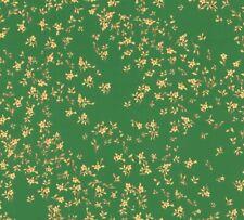 Versace 4 Home Wallpaper 935856 Blümchen Blumen grün metallic Tapete Vliestapete