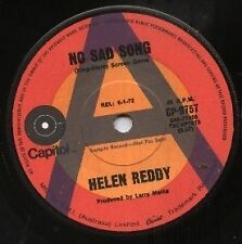 "HELEN REDDY    Rare 1972 Aust Promo Only 7"" OOP Capital Pop Single ""No Sad Song"""