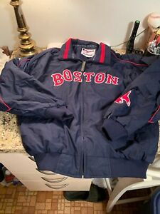 Boston Red Sox WarmUp Jacket Majestic Authenic MLB SIZE L Embroidered Logos New