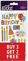 Buy 3 Get 2 FREE Jolee's Boutique Sticko Dimensional Stickers BIRTHDAY