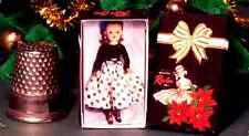 Dollhouse Miniature  Miss Revlon Christmas Box  1950s dollhouse  girl toy 1:12