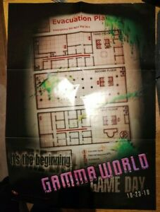 GAMMA World Gameday Posterkarte (geeignet für DnD Modern Shadowrun RPG D20)