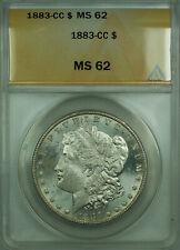 1883-CC Morgan Silver Dollar $1 Coin ANACS MS-62