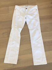 Current Elliot The Straight Leg Sugar Destroy Jeans White Size 28