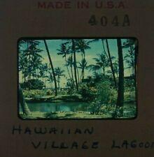 Vintage 1950s Hawaiian Village Lagoon Hawaii Original Slide