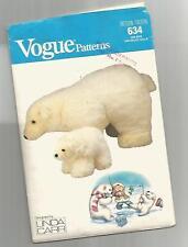 "Vogue POLAR BEARS designed by LINDA CARR Lg 14""x 26"" sm 7""x 10"" ©1987 Scarce"