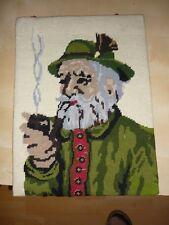 2 gestrickte Bilder ohne Rahmen  30/40 cm groß   L10a