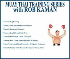 Muay Thai Kickboxing Training Series (8) Dvd Set bag clinching leg kicks blocks