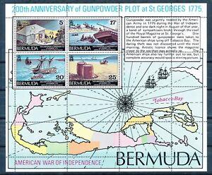 BERMUDA 1975 200TH ANNIV. OF THE 1775 GUNPOWDER PLOT S/S SCOTT 332A