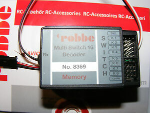 ROBBE  Multi-Switch 16 Decoder Memory für FUTABA F-14, FC-16, FC-28  Art.8369