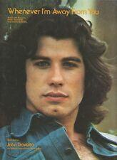 Whenever I'm Away From You - John Travolta - 1976 US Sheet Music