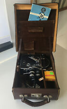 Vintage BOLEX PAILLARD H-16 Camera 3 Lenses Swiss Works w/Leather Case