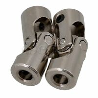 2pcs 4 x 4mm Model Car Shaft Coupling Motor Connector Iron Universal Joint