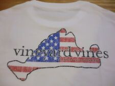 "Vineyard Vines ""Flag Island Fill MV"" L/S Pocket T-Shirt, NWT - Boys L (16)"
