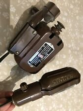 Vintage Genuine Singer Sewing Machine Motor BAK.13-12, 75W,230-250V Brown