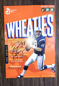 Brand New Unopened Autographed Peyton Manning And Marvin Harrison Wheaties Box