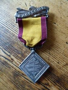 ARMY TEMPERANCE TOTAL ABSTINENCE MEDAL with EXCELSIOR BAR 3 YEAR MEDAL STA.2