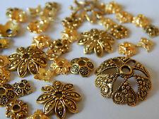 100-200 Perlenkappen gold MIX 5mm-15mm Metall Perlkappen Kappen div Größen